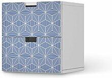 Design-Folie für IKEA Stuva Kommode - 2 Schubladen | Möbeldeko Klebetapete Folie Aufkleber Möbel überkleben | Wohnen und Dekorieren Esszimmer-Dekoration Wohnidee | Design Motiv Sternstunde