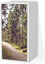 Design-Folie für IKEA Valje Wandschrank 1 Tür (hoch) | Möbeldeko Klebetapete Folie Aufkleber Möbel überkleben | Wohnen und Dekorieren Esszimmer-Dekoration Wohnidee | Design Motiv Forest Walk