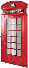 Design Garderobe als Telefonzelle Rot Pharao24