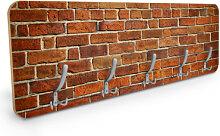 Design Garderoben - Garderobe Ziegelsteinmauer -