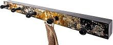 Design Garderobenleiste  in Schwarz Goldfarben Metall