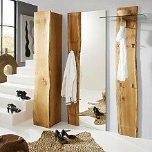 Design Garderobenset Eiche massiv Garderobe