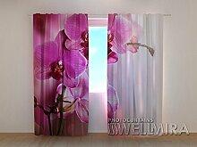Design Gardinen 3D Vorhänge bedruckt Blumen
