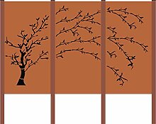 Design Gartenzaun Sichtschutz 3 - Teiliger Baum