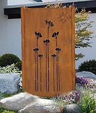Design Gartenzaun Sichtschutz Rostelement SW003