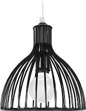 Design-Hängeleuchte Speichenstruktur Schwarz
