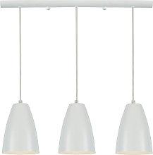Design-Hängeleuchte Stange 3 Lichter Weiß FRIDAY