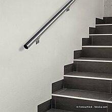 Design Handlauf Geländer Treppengeländer Edelstahlgeländer Treppenhandlauf • Edelstahl V2A • Ø 42,2mm • Thorwa® (2000mm, Pulverbeschichtet)