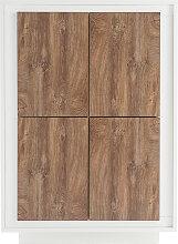 Design-Highboard 4 Türen weiß und dunkles