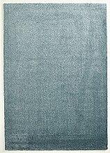 Design Hochfloor Teppich Uni blau 120 x 170 cm