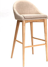 Design-Hochstuhl 75 cm Holz Polyester Beige SHANA