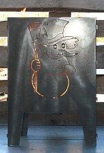 Design in Steel - Feuerkorb Schneemann 40 x 40 cm