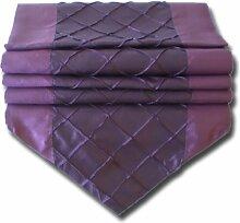 Design Kariert lila purpur Tischläufer Tischdecke
