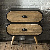 Design Kommode aus Mangobaum Massivholz abgerundet