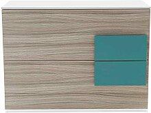Design Kommode für Jugendzimmer Holz Petrol