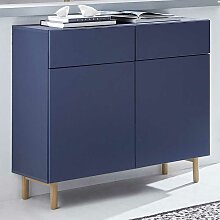 Design Kommode in Blau modern