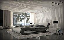 Design Komplettbett Aprilia + Matratze + Lattenros