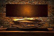 Design Lampe Riverine Schwarz Treibholz Leuchte