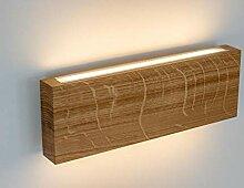 Design LED 5W Wandleuchte massiv Eiche natur