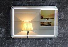 Design LED-Beleuchtung Badspiegel GS086 Lichtspiegel Wandspiegel mit Touch-Schalter Tageslichtweiß IP44 (100x70cm)