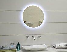 Design LED-Beleuchtung Badspiegel Wandspiegel Lichtspiegel GS047N rund 60cm (kaltweiß)