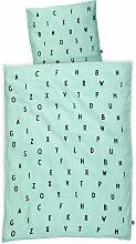 Design Letters - AJ Babybettwäsche, mint