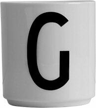 Design Letters - Becher - Buchstabentasse - Buchstabe: G - Porzellan - Arne Jacobsen