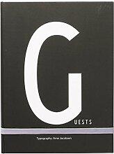 Design Letters Gästebuche mit 200 Seiten mit der