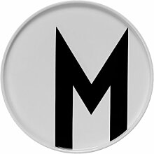 Design Letters - Teller Porzellan - Buchstabe: M -