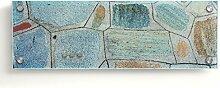 Design Magnettafel | Glas Memoboard mit Stein