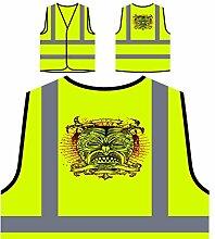 Design mit Dämon Mann Neuheit Personalisierte High Visibility Gelbe Sicherheitsjacke Weste nn75v