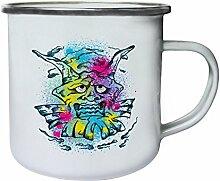 Design mit Demon Man Clown Neuheit Retro, Zinn, Emaille 10oz/280ml Becher Tasse nn76e