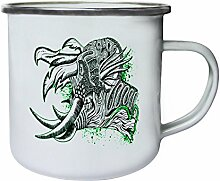 Design mit Demon Man Neuheit Art Retro, Zinn, Emaille 10oz/280ml Becher Tasse oo15e