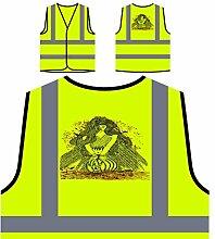 Design mit geflügelter Frau Neuheit Personalisierte High Visibility Gelbe Sicherheitsjacke Weste nn77v