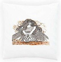 Design mit Winged Frau Neuheit Dekoratives Kissen, Kissenbezug mit Einlage/Füllung oder ohne, 45x45cm nn77p