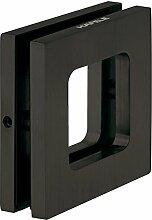 Design Möbelgriff Edelstahl schwarz Glastürgriff