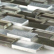 Design Mosaik Fliesen Aluminium Alu Glas 3D