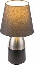 Design Nacht Tisch Lampe schwarz Schlaf Wohn
