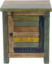 Design-Nachttisch recyceltes Holz MAYOTTE
