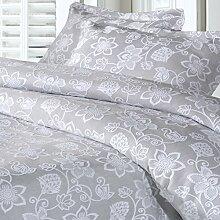 Design Port Kew Bettbezug, silber, Single