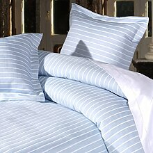Design Port Streifen Bettbezug, Sky, Single