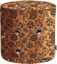 Design Pouf mit Vogel Motiven Retrostil