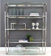 Design Raumteiler Regal aus Edelstahl poliert mit