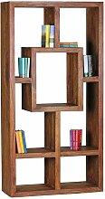 Design Regal aus Sheesham Massivholz 180 cm hoch