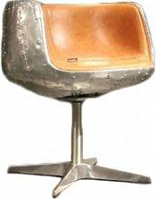 Design Schalensessel Stenness Drehstuhl Vintage-Leder Echtleder Sessel Columbia Brown