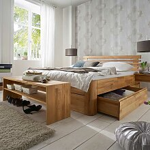 Design Schlafzimmermöbel aus Kernbuche Massivholz