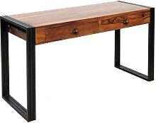 Design Schreibtisch aus Sheesham Massivholz und
