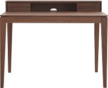 Design-Schreibtisch mit Fächern aus Nussbaumholz