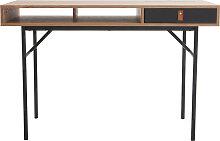 Design-Schreibtisch mit Stauraum Eichholz und