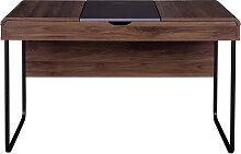 Design-Schreibtisch mit Tischplatte aus Holz und